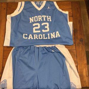 Jordan UNC authentic complete uniform set